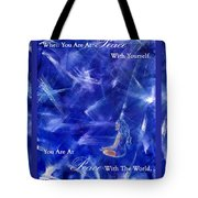 At Peace Tote Bag by The Art With A Heart By Charlotte Phillips