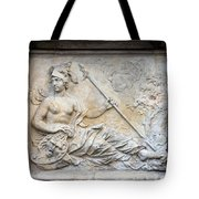 Athena Relief In Gdansk Tote Bag by Artur Bogacki