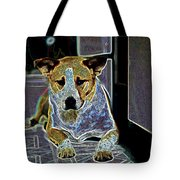 Australian Cattle Dog Boxer Mix Tote Bag by One Rude Dawg Orcutt