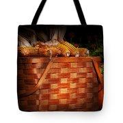Autumn - Gourd - Fresh corn Tote Bag by Mike Savad