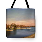 Autumn at Lake Graham 2 Tote Bag by Jai Johnson