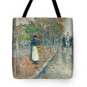 Autumn Boulevard In Paris Tote Bag by Childe Hassam
