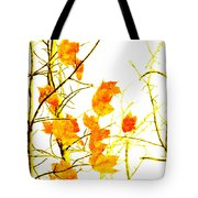 Autumn Leaves Abstract Tote Bag by Andee Design