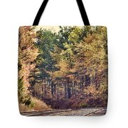 Autumn Railroad Tote Bag by Douglas Barnard