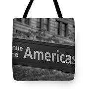 Avenue Of The Americas Tote Bag by Susan Candelario