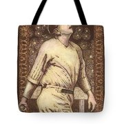 Babe Ruth The Bambino  Tote Bag by Ray Tapajna