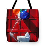 Baby buggy with balloons  Tote Bag by Garry Gay