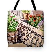 Backyard Sketchbook Project Down My Street Tote Bag by Irina Sztukowski