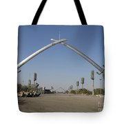 Baghdad, Iraq - Hands Of Victory Tote Bag by Terry Moore