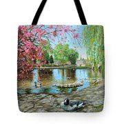 Bakewell Bridge - Derbyshire Tote Bag by Trevor Neal
