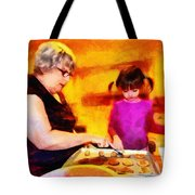 Baking Cookies With Grandma Tote Bag by Nikki Marie Smith