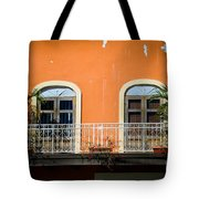 Balcony With Palms Tote Bag by Perry Webster