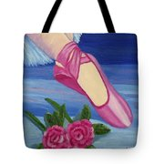 Ballet Toe Shoes For Madison Tote Bag by Margaret Harmon