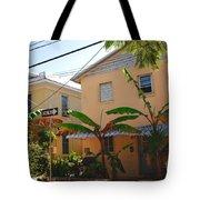 Banana Tree Lane In Key West Tote Bag by Susanne Van Hulst