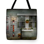 Barber - Belvidere Nj - A Family Salon Tote Bag by Mike Savad