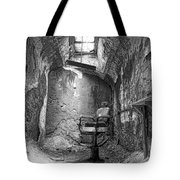 Barber - Chair - Eastern State Penitentiary - Black And White Tote Bag by Paul Ward