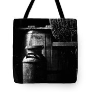 Barrel In The Barn Tote Bag by Jim Finch