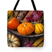 Basketful Of Autumn Tote Bag by Garry Gay
