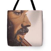 Bass Player Iv Tote Bag by Kaaria Mucherera