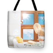 Bathroom Interior Still Life Tote Bag by Amanda Elwell