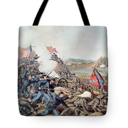 Battle Of Franklin November 30th 1864 Tote Bag by American School