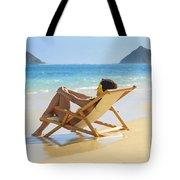 Beach Lounger II Tote Bag by Tomas del Amo