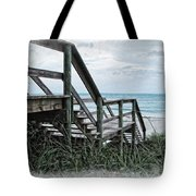 Beach Steps Tote Bag by Joan  Minchak