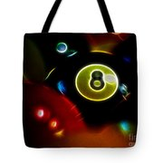 Behind The Eight Ball - Electric Art Tote Bag by Wingsdomain Art and Photography