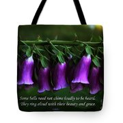 Bells Of Spring Tote Bag by Olahs Photography