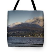 Ben Nevis And Loch Linnhe Panorama Tote Bag by Gary Eason