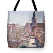 Bennecourt Tote Bag by Claude Monet