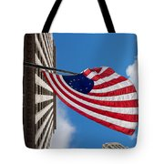 Betsy Ross Flag In Chicago Tote Bag by Semmick Photo