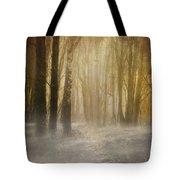 Beware Misty Woodland Path Tote Bag by Meirion Matthias