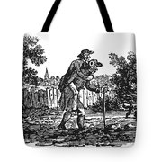 Bewick: Man Carrying Man Tote Bag by Granger