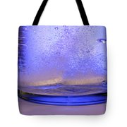 Bicarbonate Of Soda Dissolving In Water Tote Bag by Photo Researchers, Inc.