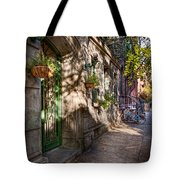Bike - Ny - Greenwich Village - The Green District Tote Bag by Mike Savad