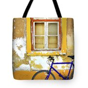 Bike Window Tote Bag by Carlos Caetano