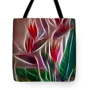 Bird Of Paradise Fractal Panel 2 Tote Bag by Peter Piatt