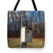 Birdhouse On A Pole Tote Bag by Robert Margetts