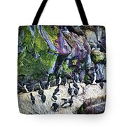 Birds At Cape St. Mary's Bird Sanctuary In Newfoundland Tote Bag by Elena Elisseeva