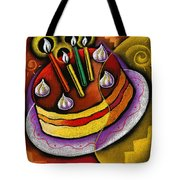 Birthday  Cake  Tote Bag by Leon Zernitsky