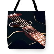Black Acoustic Guitar Tote Bag by Mike McGlothlen