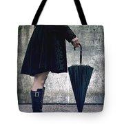 Black Umbrellla Tote Bag by Joana Kruse