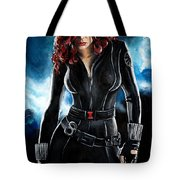 Black Widow Tote Bag by Tom Carlton