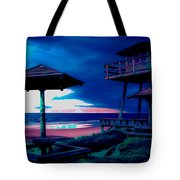 Blacklight Tower Tote Bag by DigiArt Diaries by Vicky B Fuller