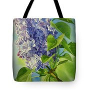 Blue And Lavender Lilacs Tote Bag by Sharon Freeman