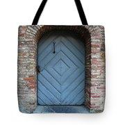 Blue Door Tote Bag by Carol Groenen