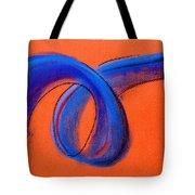 Blue Ribbon Tote Bag by Hakon Soreide