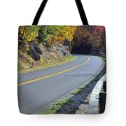 Blue Ridge Parkway Autumn Road Tote Bag by Bruce Gourley