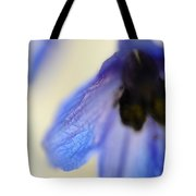 Blue Touch Tote Bag by Jenny Rainbow